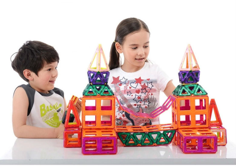 ФОТО funny magnetic toys diy magnetic blocks building toys152 pcs building block 3d blocks diy toys educational model building kits