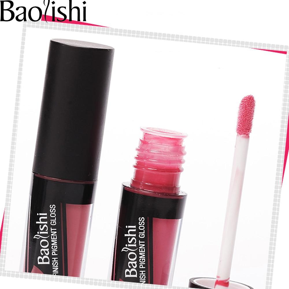 baolishi 1stk Brand sammet Lip Gloss Vattentät Färgdroger snabbt - Smink - Foto 2