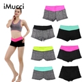 iMucci Elastic Women Summer Shorts with Pockets Casual Women's Fitness Hot Printed Sexy Woman Workout Short Exercise Trousers