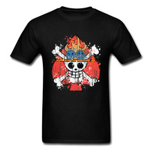 2019 Men T-shirt Brand One Piece Tshirt Pirate King Luffy Brother Logo T Shirt Ace Fire Fist Vintage Tops Oversized Tees Cotton