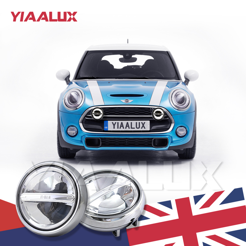 Chrome Finish Led Rally Driving Lights For Mini Cooper Front Per Yiaalux