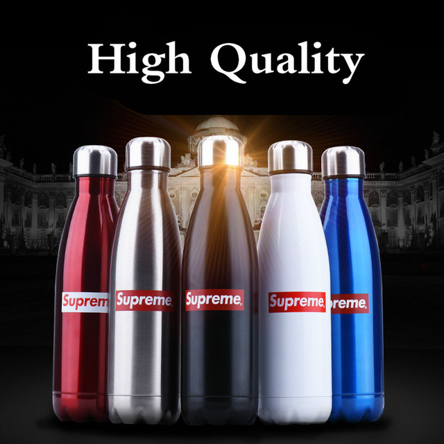350 500 750ml Superme Us Brand 5 Colors 3 Layers 304 Stainless Steel Water Bottle Thermos Sport Drink E Insulation 24h