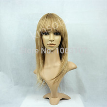 Virgin Brazilian Silky Straight Glueless Full Lace Human Hair Wigs Pure Blonde Color #613 Long Full Lace Wig For White Women