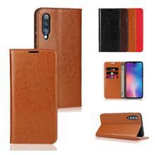 For OPPO Reno Z LUCKBUY Luxury UltraThin Genuine Leather Book Design Phone Case Realme 3 Pro K3 Flip Wallet Covers