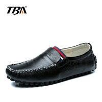 2017 Handmade Genuine Leather Men Loafers Luxury Designer Slip On Men S Flats Casual Shoes Black