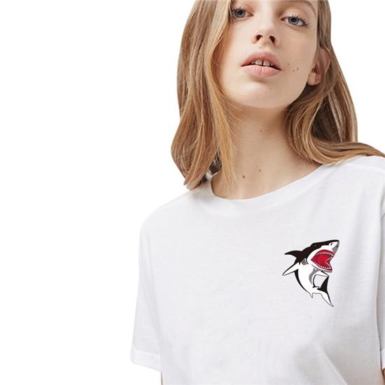 """""""Hot Shark"""" Shark Top / T-Shirt for Girls 6"""