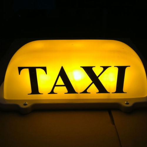 10.5 LED Taxi Cab Sign Roof Top Topper Car Super Bright Light Lamp 12V Yellow Car Taxi Roof Light Advertising Lamp G1WSQP08038 wholesale taxi led light auto indicator lamp vehicles car windscreen cab sign white led taxi lamp 12v car styling free shipping