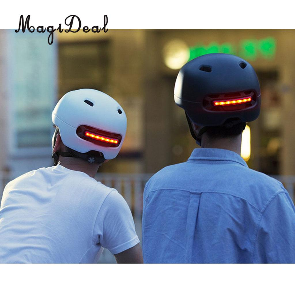 Vented Bike Helmet With Rear LED Lights For Kids Adults Outdoor Cycling Scooter Skating Skateboard