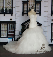 Poemssongs Custome Made Off The Shoulder Style Silky Organza Mermaid Wedding Dresses Vestido De Noiva High