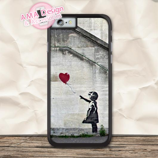 Banksy Balloon Girl Graffiti Protective Case For iPhone X 8 7 6 6s Plus 5 5s SE 5c 4 4s For iPod Touch