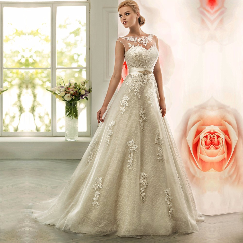 Lace long wedding dresses 2016 turkey country western for Lace western wedding dresses