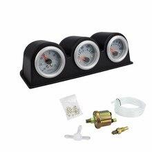 2 дюйма 52 мм тройной турбо boost gauge+ Датчик температуры воды+ Датчик давления масла автомобильный измеритель температуры воды