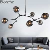 Lindsey Adelman Branch Pendant Lights DNA Magic Bean Led Hanging Lamp Glass Luminaire Loft Industrial Kitchen Home Fixture Decor