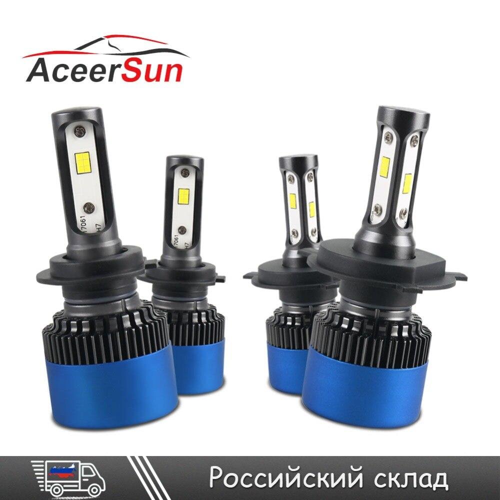 Aceersun 2Pcs H7 LED H4 H1 H3 9005 9006 LED Car Headlight Bulb Auto Lamp mini CSP Chip 12000LM Fog Lights 6500K 24V 12V Headlamp panlelo new 9005 auto car led lights lamps 6500k kit fog lamp play