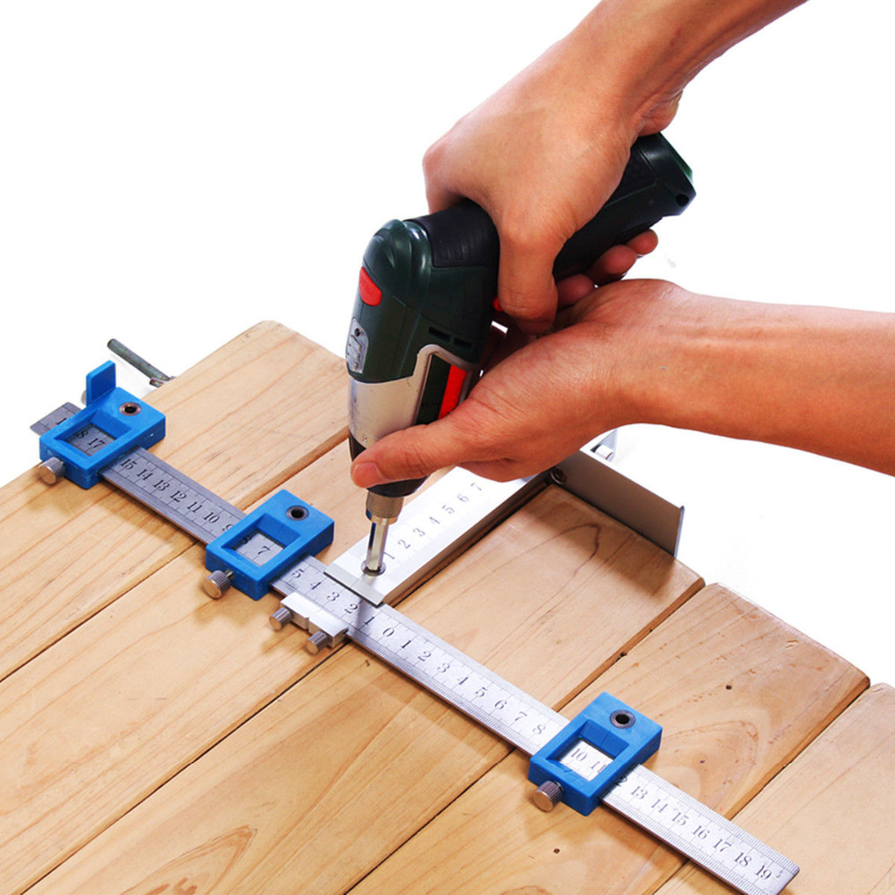 Aluminum/Plastic Position Cabinet Hardware Jig Drill Guide Sleeve Drawer for Woodworking