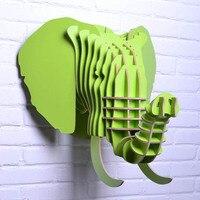 Деревянный слон головка для стены искусства, деревянные украшения для украшения, хорошее дерево, DIY домашнего декора, голова животного, слон
