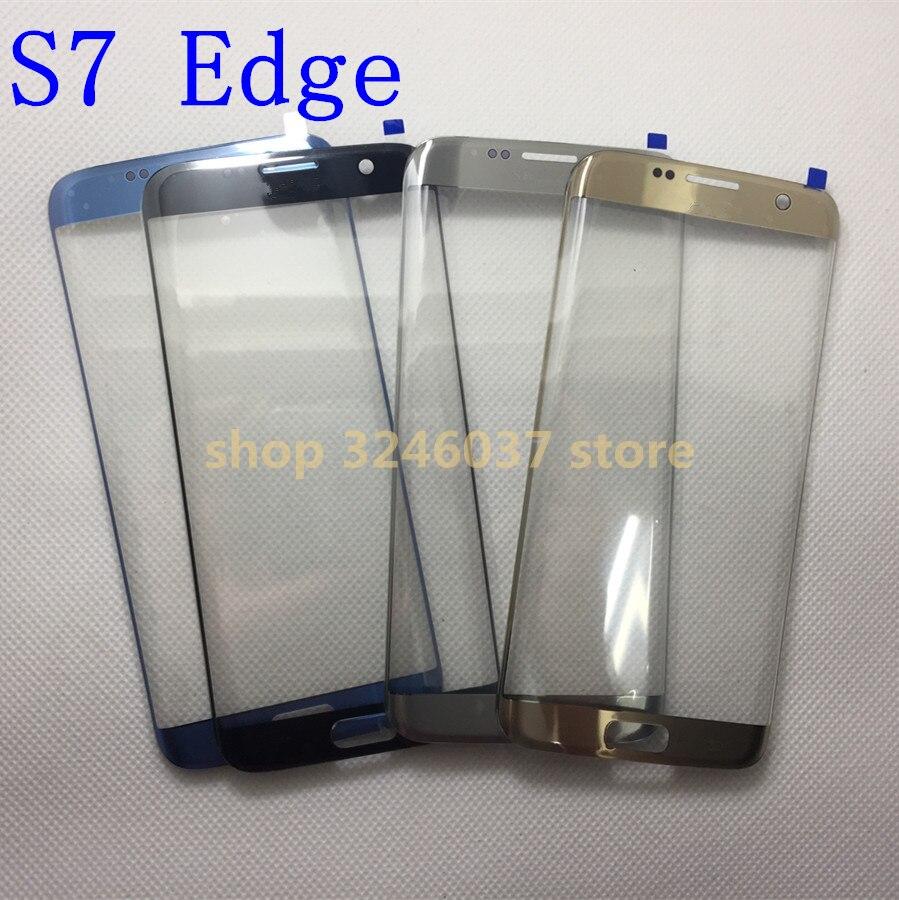 10 pcs/lot AAA + Remplacement Verre Externe Pour samsung galaxy s7 Bord G935 G935F LCD Tactile Écran Avant En Verre Extra-Atmosphérique lentille