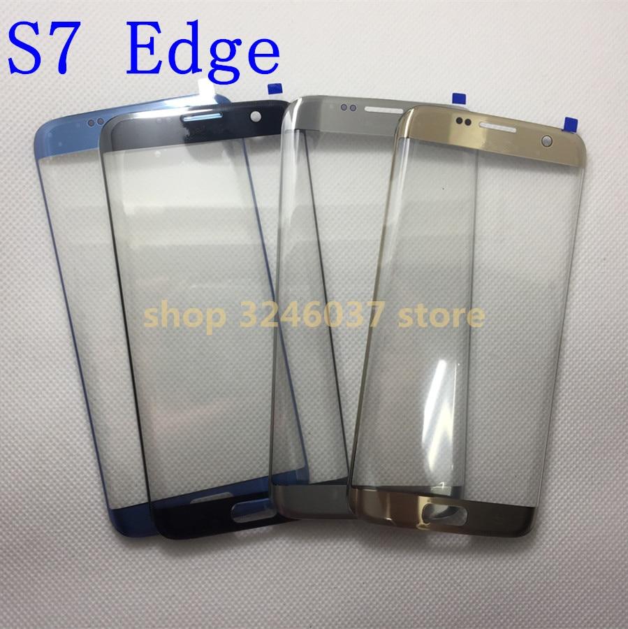 10 pcs/lot AAA + verre extérieur de remplacement pour samsung galaxy s7 Edge G935 G935F LCD écran tactile avant verre lentille extérieure