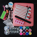 Nail Art  Set Of Tools 36W UV Lamp For Nails Top Coat Base Gel Nail Gel Polish Varnish False Tips Set For Nail Manicure Set