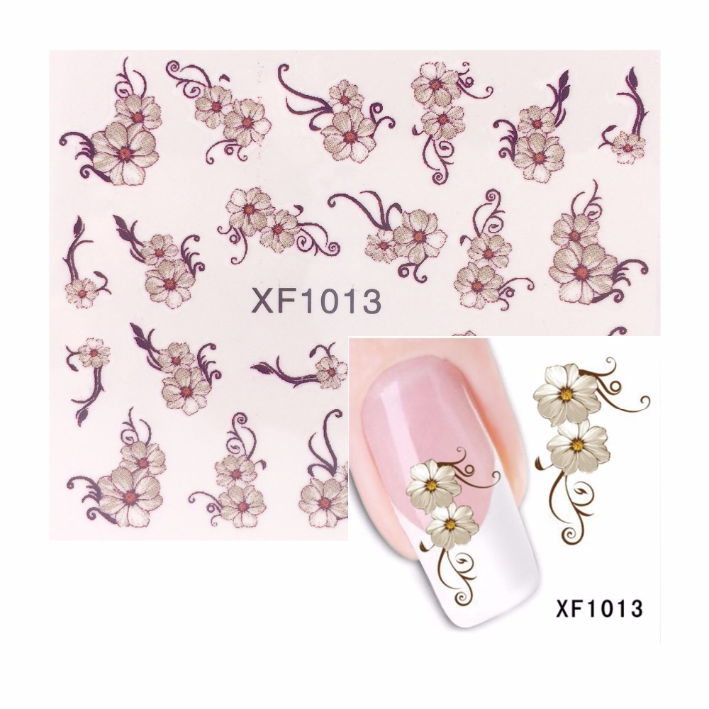 LCJ Nail Art Water Transfer Totem Flower Design Nail Sticker Watermark Decals DIY Beauty Nail Tips Decoration Wraps Tools nail art water tattoo coconut trees summer style design tips decorations water transfer nail art decals 8215679