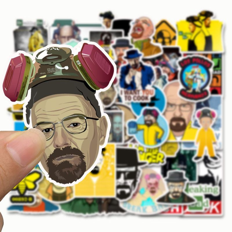 50 Pcs Breaking Bad  Stickers Various Shapes Creative Design Doodle Stickers