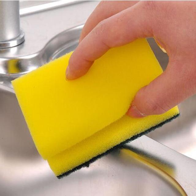 Cleaning sponge small sponge scouring pad double side kitchen scrubbing sponge rub home kitchen accessories Kitchen gadgets23
