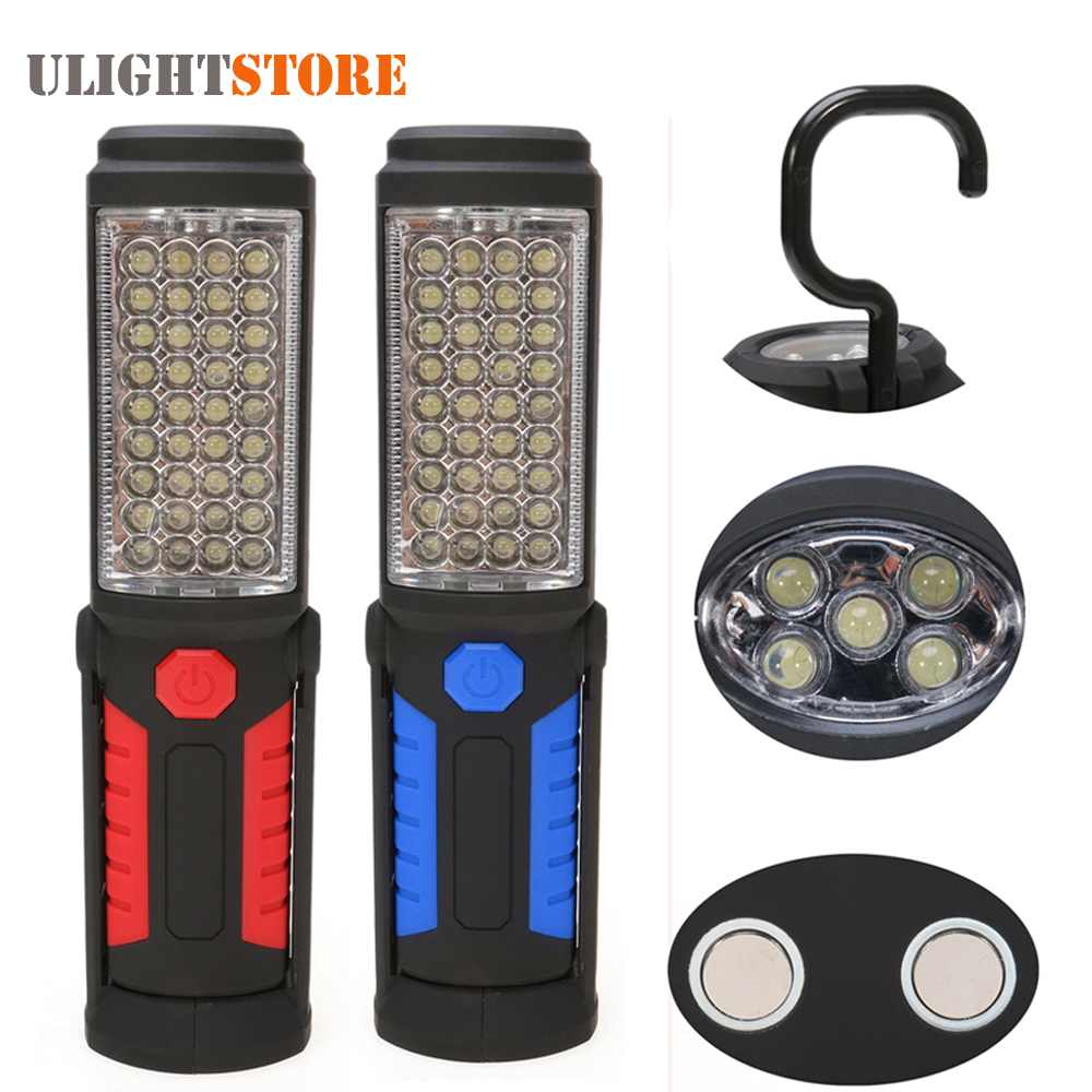 Led Work Light Magnet Lamp Torch Rechargeable Cordless: Super Bright LED Flashlight Work Light USB Rechargeable