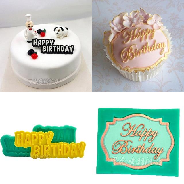 1 Pcs Salam Selamat Ulang Tahun Silikon Sabun Cetakan Fondant Kue