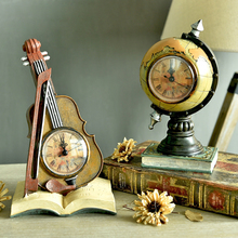 Europe Retro Telephones Violin Desk Table Clocks Creative Globe Suitcase Saks Model sitting room TV cabinets Bar Cafe Decor