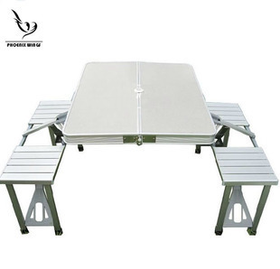 Outdoor Furniture Outdoor Portable Collapsible Picnic Tables Suit Rental  Desk Portable Barbecue Grill Tables