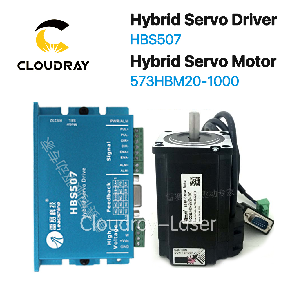 Cloudray Leadshine HBS57+573HBM20-1000 HBS507 nema23 3 Phase Hybrid Servo Closed Loop nema23 3phase closed loop motor hybrid servo drive hbs507 leadshine 18 50vdc new original