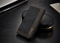 Dual Colors Denim Material Cover Case For Samsung Galaxy S8 Built In Magnet Fundas Metal Logo