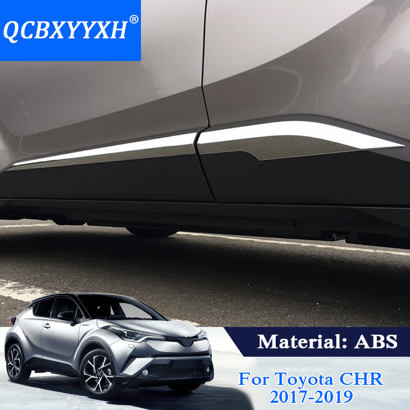 QCBXYYXH Car Styling Molding Door Body Strips For Toyota CHR CH R 2017 2018 Accessories Trim Covers External Decoration Strips