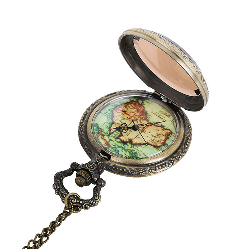 Vintage Chain Retro The Greatest Pocket Watch Necklace For Grandpa Dad Gifts Wholesale Relogio De Bolso #4J06#F