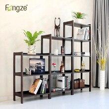 Fengze интерьер cs610 современной деревянной книжный шкаф хранения многофункциональный твердой древесины цветок стойки стоял растений Дисплей кабина