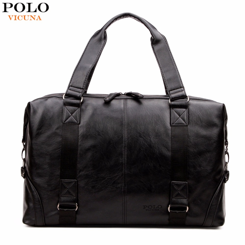 VICUNA POLO Molle Pouch Large Capacity Male Leather Travel B