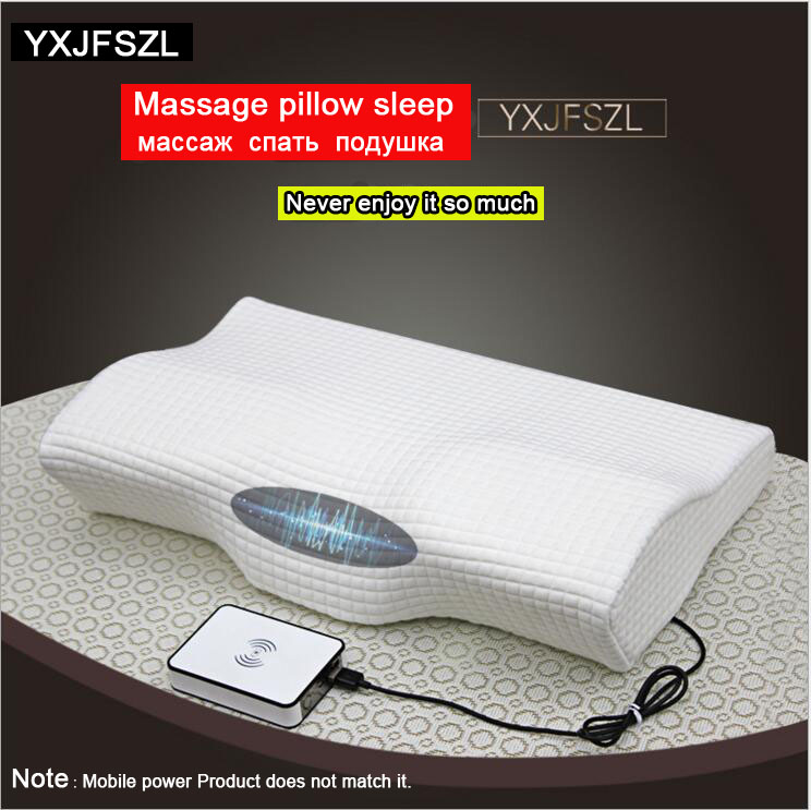 YXJFSZL 50*30CM Electric Massage Pillow Orthopedic Magnetic Neck Pillow Slow Rebound Memory Foam Pillow Health Care Pain Release 2017 home sleep orthopedic neck support fiber slow rebound memory foam pillow cervical health care orthopedic latex foam pillow