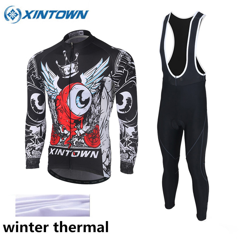 XINTOWN Sport Clothing Suit Sportswear Super Warm Winter Thermal Fleece  Cycling Jerseys Bicycle Bike MTB Ropa Ciclismo Pants e6e720dfc2c