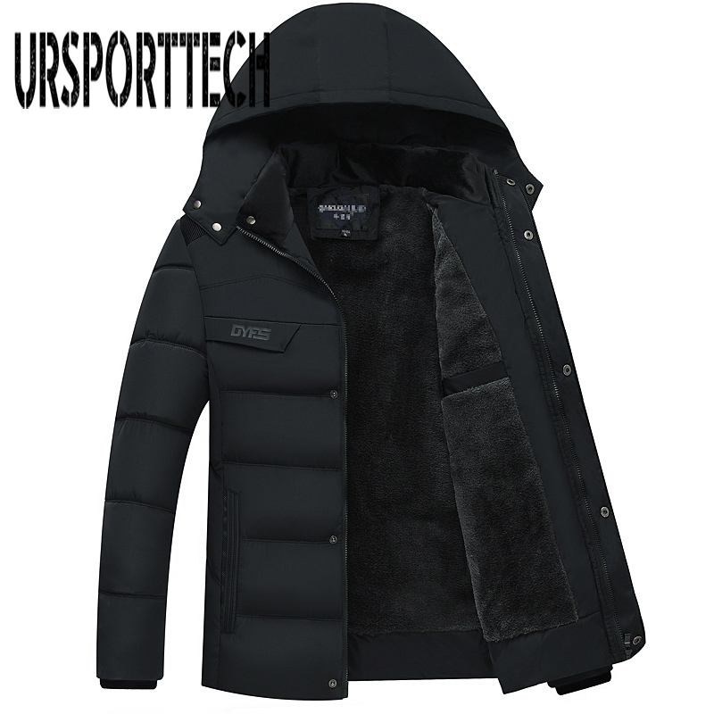 2018 Winter Men Down & Parkas Warm Cotton-padded Jackets s Casual Thicken Coats OverCoat Mens Father Clothing