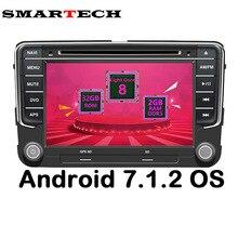 Smartech Восьмиядерный 2din VW Android 7.1.2 автомобиля Автомобильный Мультимедийный Плеер GPS стерео Радио DVD для Volkswagen Passat поло гольф Skoda