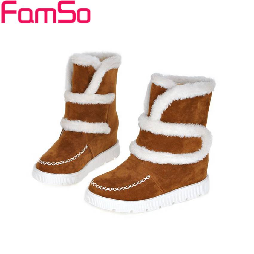 Plus Size34 43 2016 font b Women b font Boots Black Spring Fur Tassel Shoes Autumn