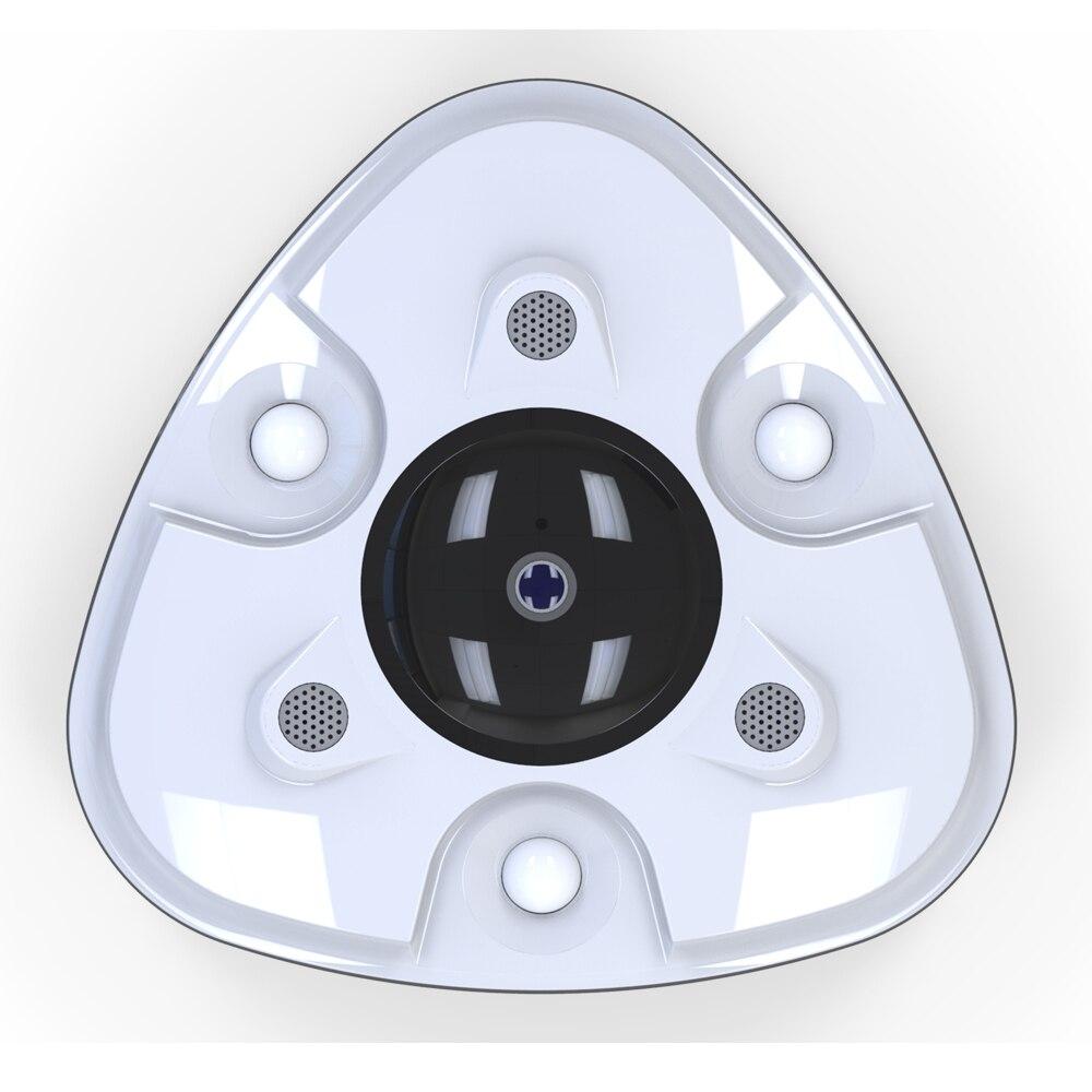 Système de Smog Anti-vol Intelligent avec caméra panoramique GSM 2MP HD 360 et détecteur de fumée en alliage d'aluminium et alarme de détection de mouvement PIR