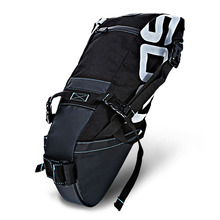 ROSWHEEL 131414 Water-Resistant 8L Bicycle Bags Bicycle Tail Bag Saddle Tube Pouch Panniers For Cycling