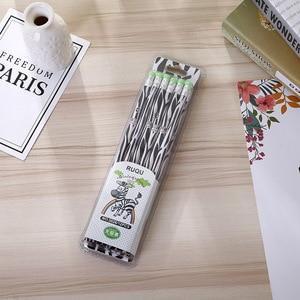 Image 3 - 72 stücke Kawaii Holz Bleistift Lot Neuheit Zebra Muster Bleistift für Schule Büro Liefert Schreiben HB Standard Bleistift Set Schreibwaren