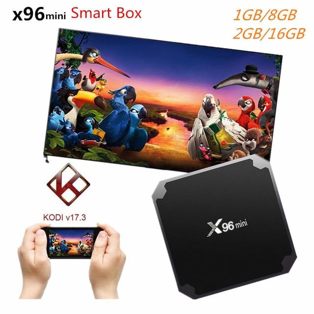 X96 mini Android 7.1 TV BOX 2GB 16GB Smart TV Box Amlogic S905W Quad Core Suppot H.265 UHD 4K 2.4GHz WiFi X96mini pk A95X R1