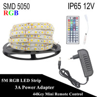 DC 12V RGB LED Strip Waterproof 5050 5M 300LED Tira LED Light Flexible Neon Tape LED