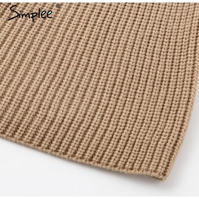 Women Knitted turtleneck cloak sweater 47
