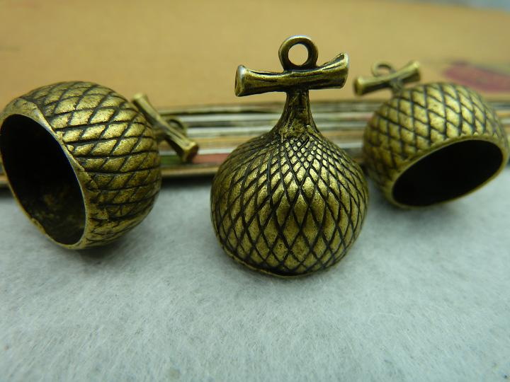 5Pcs Antique Bronze Echinacea Charm DIY Jewelry Making
