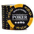 20 PCS/LOT NEW Design  No Value Poker Chips 14g Clay/Iron/ABS Chips Texas Hold'em Poker Wholesale For Club Free Shipping