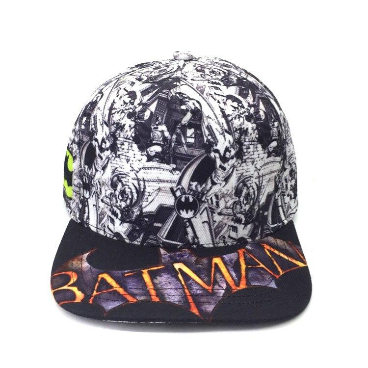 Men's Baseball Caps Heroes Batman Hat Letter Fabric Adjustable Baseball Cap Sumshade Hip Hop Hat 100% Original